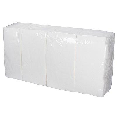 Купить салфетка бумажная белая 33х33 см 2-сл 200 шт/уп сложение 1/8