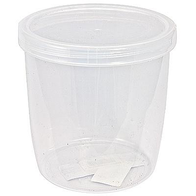 Купить банка 0.5л н75хd107 мм с завинчивающейся крышкой круглая пластик прозрачная bora 1/36 (арт. 510) в Москве