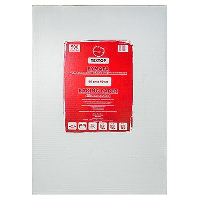 Купить бумага для выпечки дхш 600х400 мм 500 лист/уп в коробке белая textop 1/1 в Москве
