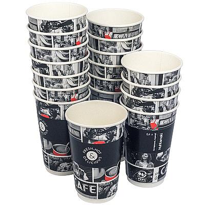 Купить стакан бумажный 400мл d90 мм 2-сл для горячих напитков cafe noir huhtamaki 1/18/432 в Москве
