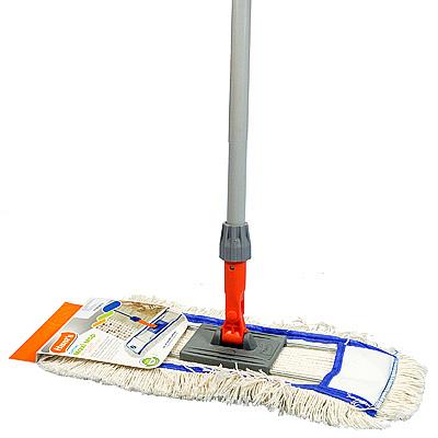 Купить швабра для пола ш 400 мм плоская с карманами cotton maxi mop hunter 1/12 в Москве