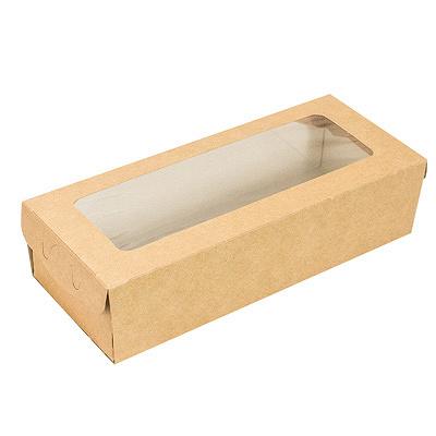 Купить упаковка - пенал 500мл дхшхв 170х70х40 мм с окном крафт 1/100/400 в Москве