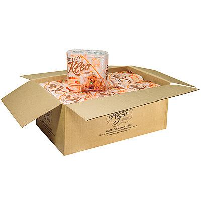 Купить бумага туалетная 3-сл 4 рул/уп*18 kleo мандарин оранжевая сцбк 1/1 в Москве