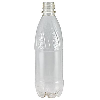 Купить бутылка 500мл с узким горлом без пробки с фигурным дном pet прозрачный 1/100 в Москве