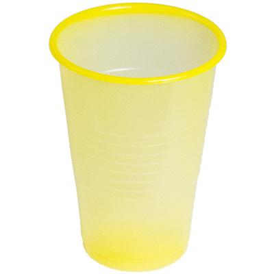 Купить стакан пластиковый 200мл d 70мм pp желтый