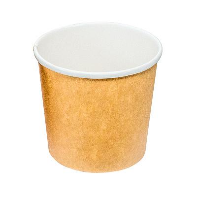 Купить контейнер бумажный 300мл н85хd90 мм для горячего, холодного без крышки крафт pps 1/50/500 в Москве