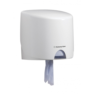 Купить диспенсер для полотенец с центр вытяжением дхшхв 280х280х230 мм aquarius пластик белый kimberly-clark 1/1 (арт. 7018) в Москве