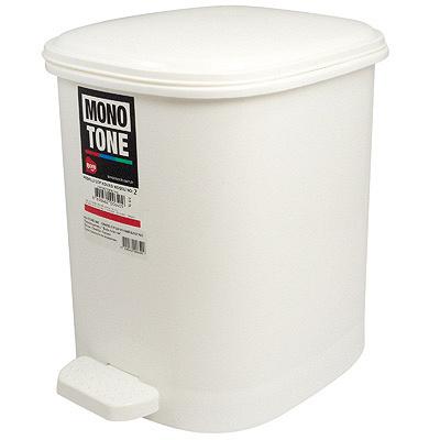 Купить контейнер мусорный прямоугольный 10л дхшхв 250х320х290 мм с педалью пластик белый bora 1/6 (арт. 640) в Москве