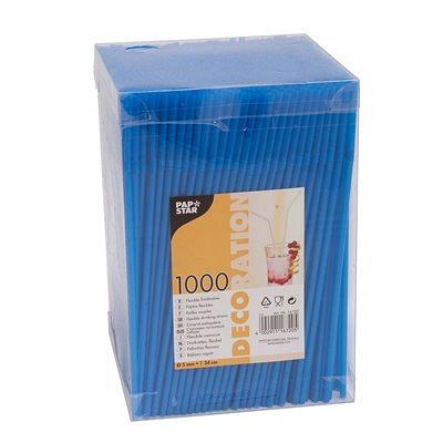 Купить соломка (трубочка) для коктейля н240хd5 мм 1000 шт/уп pp синяя papstar 1/6 (арт. 16705) в Москве