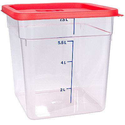 Купить контейнер квадратный 8л дхшхв 230х230х230 мм крышка красная пластик bora 1/8 в Москве