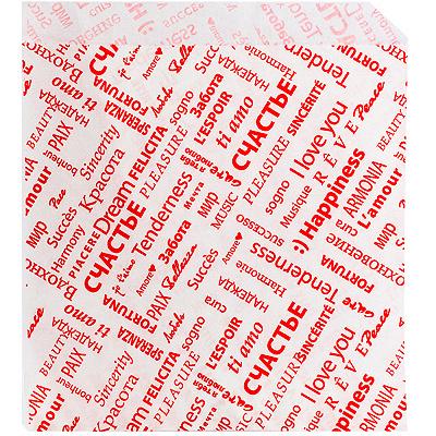 Купить уголок бумажный 155х170 мм жиростойкий с печатью fiesta белый pps 1/2000 в Москве
