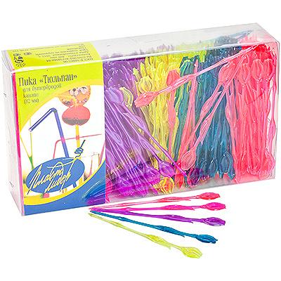Купить пика декоративная тюльпан н82 мм 400 шт/уп для канапе пластик разноцветная пласт-лидер 1/35 в Москве