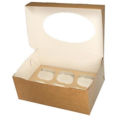 Купить коробка для пирожных дхшхв 250х170х100 мм с окном картон крафт gdc 1/25/150 в Москве