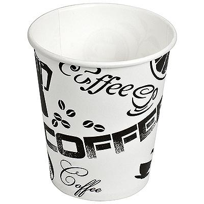 Купить стакан бумажный 175мл d70 мм 1-сл для горячих напитков черный кофе v 1/60/1500 в Москве