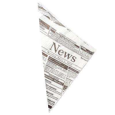 Купить пакет бумажный дхшхв 190х190х270 мм жиростойкий конус для закусок с печатью news papstar 1/1000 (арт. 86053) в Москве