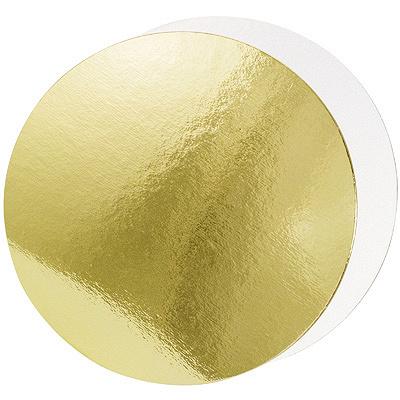 Купить подложка d220 мм 1,5 мм под торт 2-сторонняя картон золотистая/жемчужная 1/50 в Москве