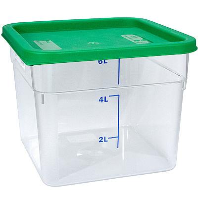Купить контейнер квадратный 6л дхшхв 230х230х180 мм крышка зеленая пластик bora 1/12 в Москве