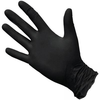 Купить перчатки одноразовые нитриловые m 100 шт/уп черные