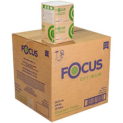 Купить салфетка бумажная 1-сл 250 шт/уп*18 180х240 мм для диспенсера focus optimum белая hayat 1/1 (арт. 5051792) в Москве