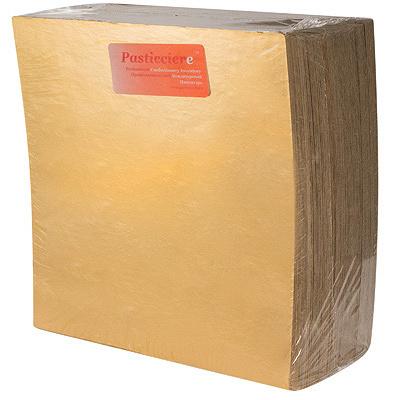Купить подложка дхш 250х250 мм 0,8 мм под торт картон золотистая 1/100 в Москве