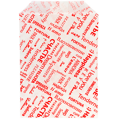 Купить пакет бумажный дхшхв 110х40х180 мм с печатью fiesta с плоским дном белый pps 1/3000 в Москве