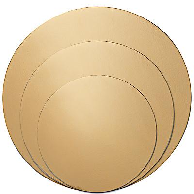 Купить подложка d280 мм 0,8 мм под торт картон золотистая 1/100 в Москве