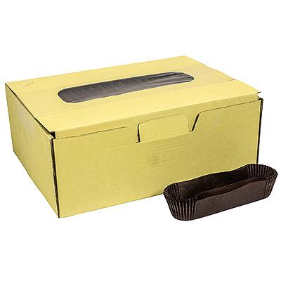 Купить капсула бумажная (тарталетка) овал дхшхв 110х28х26 мм коричневая 1/1000/12000 в Москве