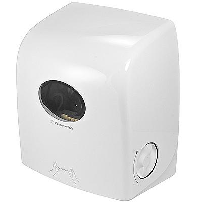 Купить диспенсер для рулонных полотенец дхшхв 318х190х343 мм aquarius пластик белый kimberly-clark 1/1 (арт. 6953) в Москве