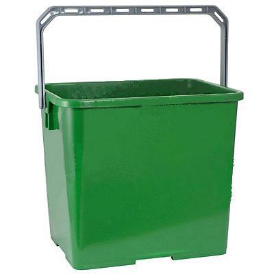 Купить ведро 6л прямоугольное пластик зеленое vileda 1/10 (арт. 500432) в Москве