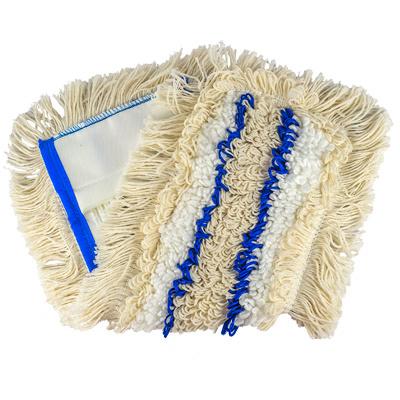 Купить насадка - моп (mop) для швабры ш 400 мм плоская с карманами extra синяя