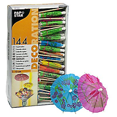 Купить пика декоративная зонтик н100 мм 144 шт/уп дерево papstar 1/12 (арт. 16679) в Москве