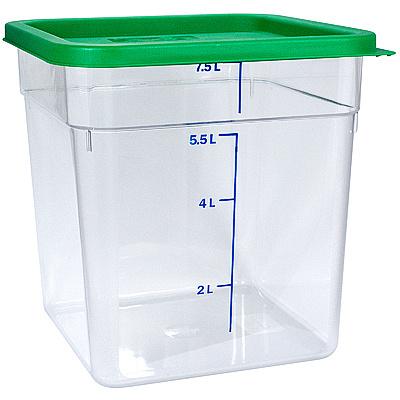 Купить контейнер квадратный 8л дхшхв 230х230х230 мм крышка зеленая пластик bora 1/8 в Москве