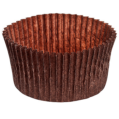 Купить капсула бумажная (тарталетка) круглая н25хd50 мм коричневая 1/1000/20000 в Москве