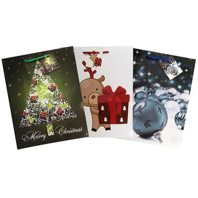 Купить пакет подарочный бумажный дхшхв 260х130х320 мм рождественский цвет в ассортименте papstar 1/10/50 (арт. 14515) в Москве