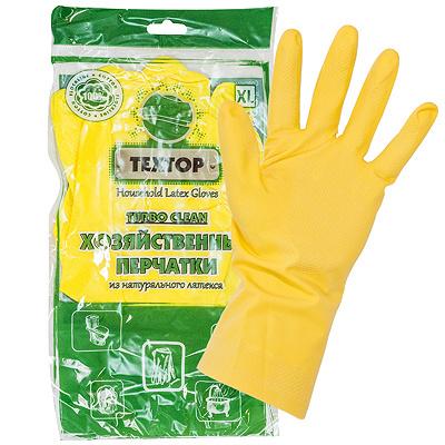 Купить перчатки хозяйственные xl turbo clean латекс textop 1/12/300 в Москве