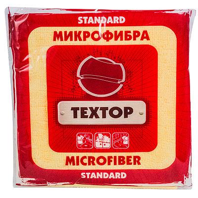 Купить салфетка микроволоконная дхш 290х290 мм 1 шт/уп standart цвет в ассортименте textop 1/100 в Москве