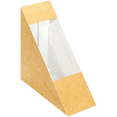 Купить упаковка для бутербродов, сэндвичей дхшхв 123х123х52 мм треугольная крафт papstar 1/50/500 (арт. 85691) в Москве