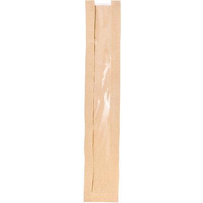 Купить пакет бумажный дхшхв 110х40х600 мм с окном 50 мм с плоским дном крафт 1/100/2500 в Москве