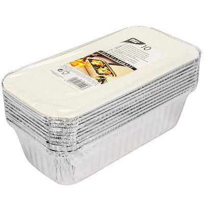 Купить контейнер (касалетка) 1500мл дхшхв 242х130х70 мм с крышкой прямоугольный алюминий papstar 1/10/100 (арт. 14502) в Москве