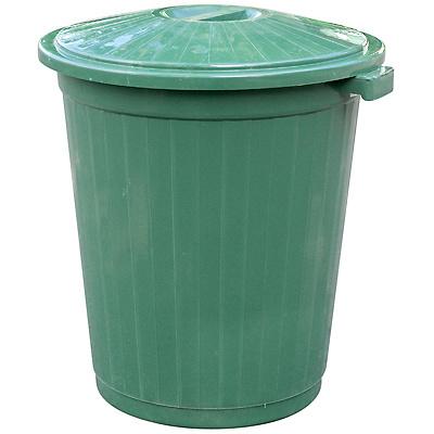 Купить бак круглый 65л н630хd490 мм для пищевых продуктов пластик зеленый пхт 1/1 в Москве
