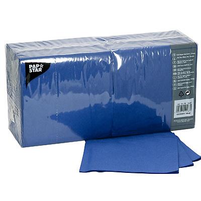 Купить салфетка бумажная синяя 33х33 см 3-сл 250 шт/уп papstar 1/4 (арт. 12487) в Москве