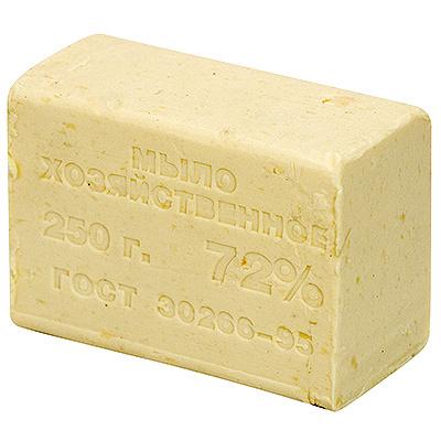 Купить мыло хозяйственное 250г 72% без упаковки светлое 1/48 в Москве