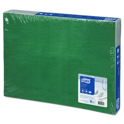 Купить салфетки сервировочные под тарелки (плейсмат) дхш 310х420 мм зеленый tork