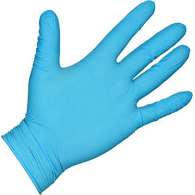Купить перчатки одноразовые нитриловые l 100 шт/уп голубые