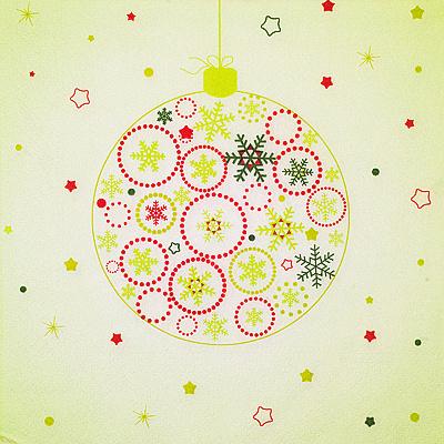 Купить салфетка бумажная 33х33 см 3 -сл 20 шт/уп новогодний шар papstar 1/15 (арт. 87064) в Москве