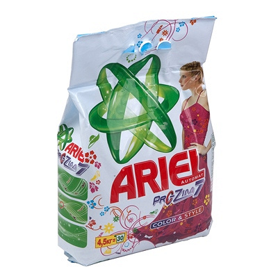 Купить порошок стиральный 4.5кг ariel automat color в п/п p&g 1/4 в Москве