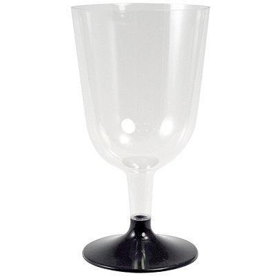 Купить бокал 200мл для вина со съемной черной ножкой ps прозрачный пп 1/6/324 в Москве