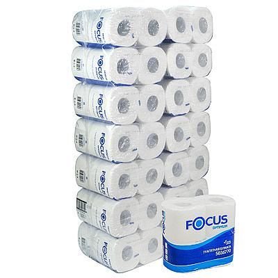 Купить бумага туалетная 2-сл 4 рул/уп*14 focus optimum белая hayat 1/1 (арт. 5036770) в Москве