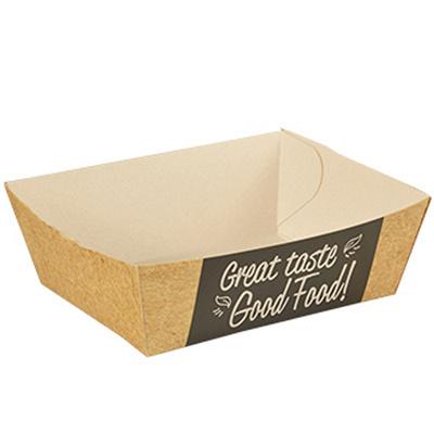 Купить лоток для закусок дхшхв 90х70х35 мм с дизайном good food! эко картон papstar 1/125/1500 (арт. 85817) в Москве