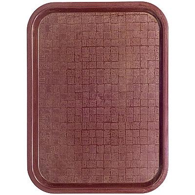 Купить поднос прямоугольный дхш 408х303 мм пластик коричневый bora 1/36 (арт. 226) в Москве